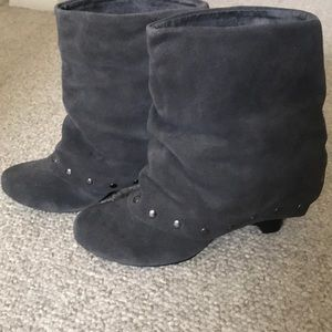 Gray studded booties. Naughty monkey. Size 8